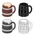 viking ale icon in cartoon style isolated on white vector image
