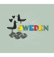 Label of Sweden vector image vector image