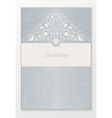 Beautiful wedding invitation vector image vector image