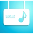 musical applique background vector image