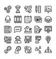 business and office line icons 11 vector image
