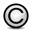 Copyright button - icon vector image vector image