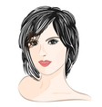 Girl-with-brown-hair vector image