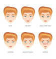 face and skin problems vector image
