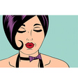 Sexy horny woman in comic style xxx vector image