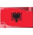 albania national flag vector image vector image