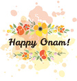 card deducted to Onam vector image