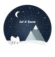 Winter night landscape vector image vector image