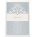 Beautiful wedding invitation vector image