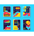 Colorful Design Abstract Modern Style Template vector image