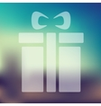 gift box icon on blurred background vector image