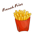 isolated cartoon hand drawn fast food french fries vector image