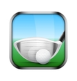 Square icon for golf app or games vector image