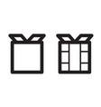 stylized icons vector image