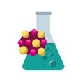 tube test laboratory experiment icon vector image