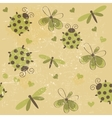 Romantic seamless pattern with dragonflies vector image vector image
