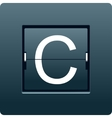 Letter C from mechanical scoreboard vector image