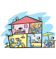 Wireless house vector image vector image