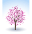flowering cherry tree vector image