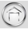 Concept metallic house symbol logo vector image