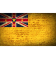 Flags Niue with dirty paper texture vector image