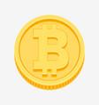 bitcoin symbol on gold coin vector image