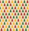 Christmass Pattern with Pines Seamless Background vector image