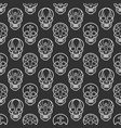 decorative mexican skulls seamless pattern vector image