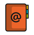 folder document with arroba symbol vector image