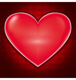 Love background with heart for Valentines day vector image