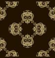 seamless luxury golden pattern vector image