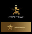 star wing abstract gold company logo vector image
