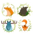 Wild Forest Animals Set vector image