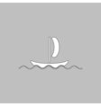 yacht computer symbol vector image