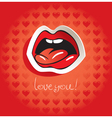 Love language vector image