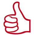 hand giving ok-hand showing thumbs up vector image vector image