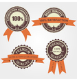 Set of quality labels with retro vintage design vector image vector image