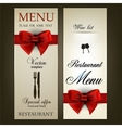 Menu design for Restaurant or Cafe Vintage vector image vector image