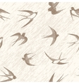 Bird swallow seamless vector image vector image