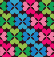 retro floral elements pattern vector image