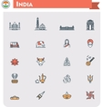 India travel icon set vector image vector image