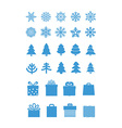 Christmas season elements collection vector image