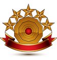 3d classic royal symbol with sophisticated five vector image