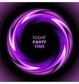 Abstract light purple swirl circle on black vector image
