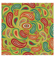 Abstract seamless pattern in green and orange colo vector image