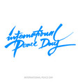 background for international day of peace hand vector image