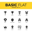 Basic set of Awards icons vector image