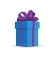 blue present gift vector image