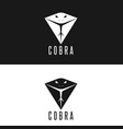 cobra logo head snake with tongue out modern vector image