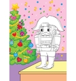 Coloring Book Of Fairy Tale Nutcracker vector image